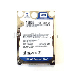 Жесткий диск 2.5 IDE Western Digital Scorpio Blue 160Gb WD1600BEVE